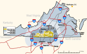 Southern Virginia Regional Alliance extended labor market